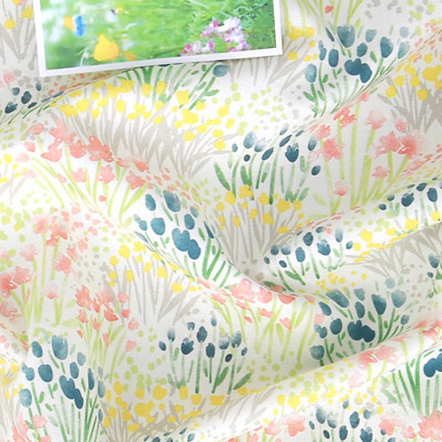 [Floral Pattern] Wild Flower Festival, 100% Cotton Fabric by the yard, DTP