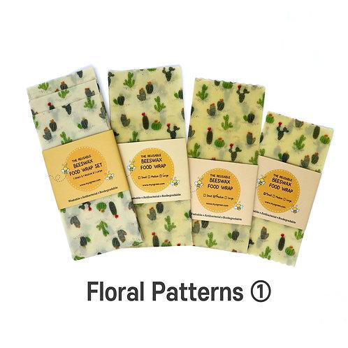 Floral Printed ① Beeswax Food Wraps, Reusable wrap, Zero Waste,