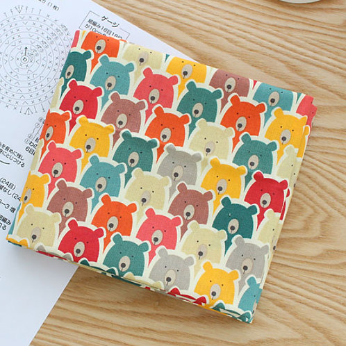 [Animal Pattern] Spy Bear, 100% Cotton Fabric by the yard, Free Shipping