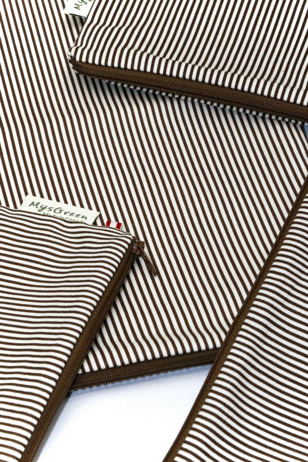 [Pouch Set-Brown stripe] 012