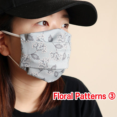 Floral printed 03 face Mask, Washable fabric face mask , Cotton fabric mask
