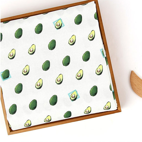 [Food Pattern] Avocado, 100% Cotton Fabric by the yard, DTP print, Free Shipping