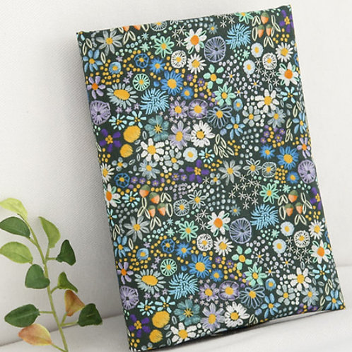 [Floral Pattern] Green Flower, 100% Cotton Fabric by the yard, DTP,Free shipping