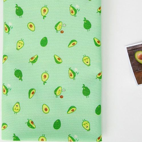[Food Pattern] I'm an avocado print 100% Cotton Fabric by the yard DTP
