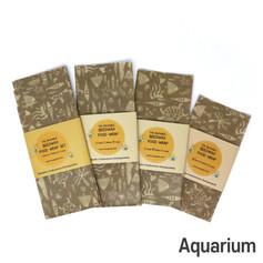 [Mysgreen-Beeswax food wrap-A-Fish] Aqua