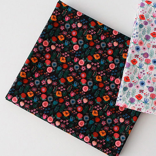 [Floral Pattern] Blooming Bouquet, 100% Cotton Fabric by the yard, DTP print
