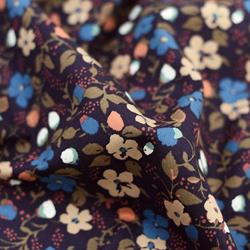 [Floral Pattern] Wine berry print 100% Cotton Fabric by the yard, DTP