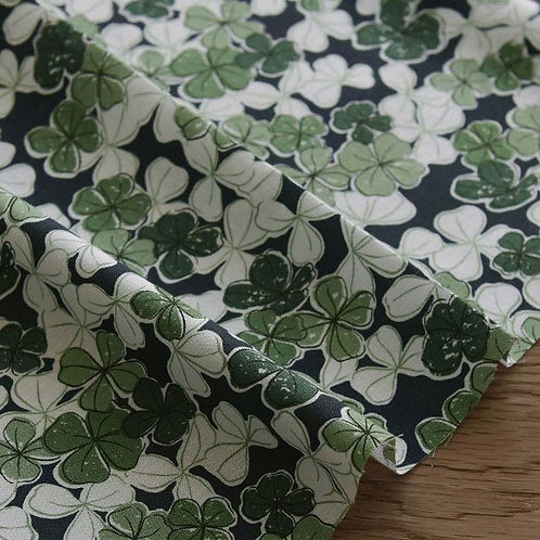 [Floral Pattern] Find Your Clover, 100% Cotton Fabric by the yard, Free Shipping