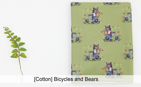 [Animal-Bear] Bicycles and Bears [Cotton
