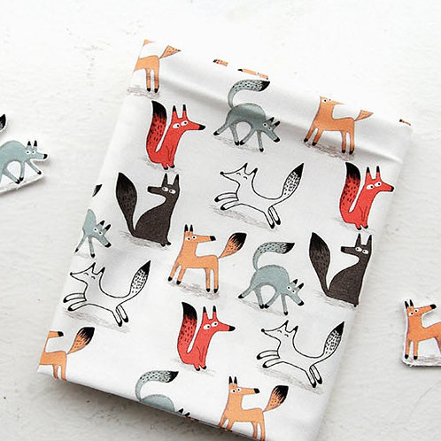 [Animal Pattern] Dashing Fox, 100% Cotton Fabric by the yard, DTP