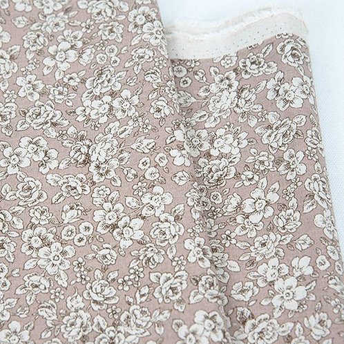 [Floral Pattern] Little flower, Linen Cotton Fabric by the yard, 137cm wide,