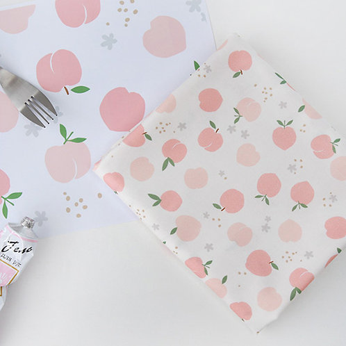 [Food Pattern]  Peach, 100% Cotton Fabric by the yard, DTP, Free shpping