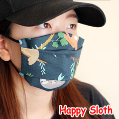 [Mysgreen-Face mask-Animal] Happy Sloth.