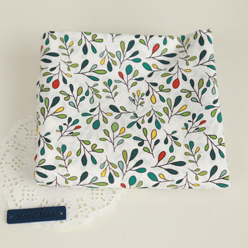[Floral Pattern] Colored Tree, 100% Cotton Fabric by the yard, DTP,Free shipping