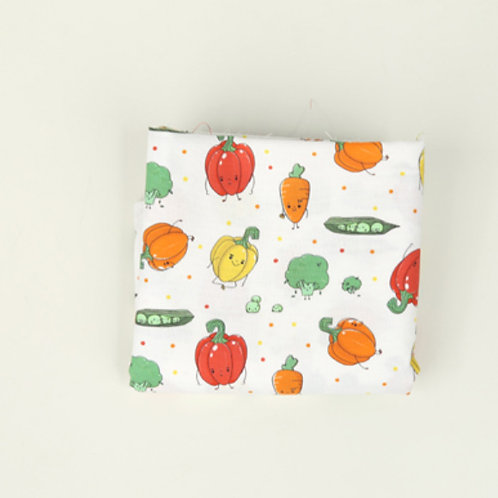 [Food Pattern] Vegetable Friends, 100% Cotton Fabric by the yard,DTP