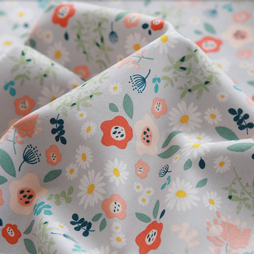 [Floral Pattern] Tiny Garden, 100% Cotton Fabric by the yard, DTP