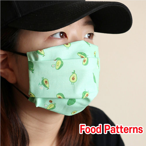 Food printed face Mask, Washable fabric face mask , Cotton fabric mask
