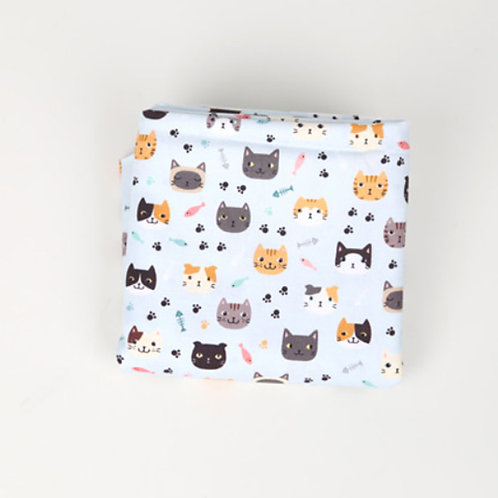 [Animal Pattern] Dandy Cats, 100% Cotton Fabric by the yard, DTP, Free Shipping