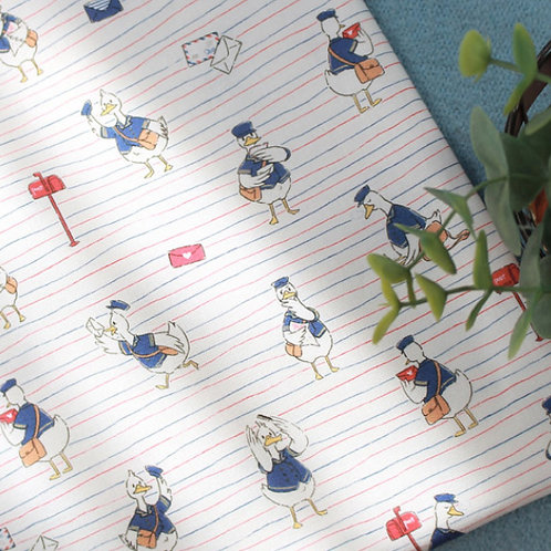 [Animal Pattern] Postman Donald Duck, 100% Cotton Fabric by the yard, DTP