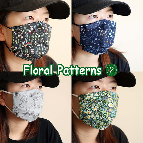Floral face mask, Reusable Face Mask with Filter Pocket, Washable mask, facemask