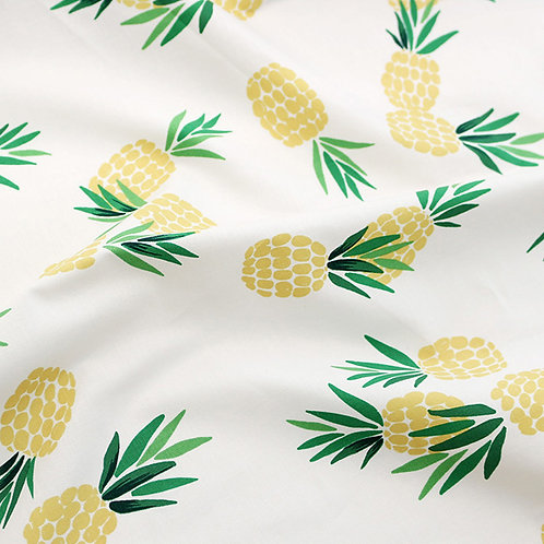 [Food Pattern] I am a pineapple, 100% Cotton Fabric by the yard, Free shipping