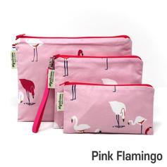[Mysgreen-Reusable Pouch-A-Bird] Pink Fl