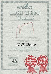 Certificate from 1st Nov 1987