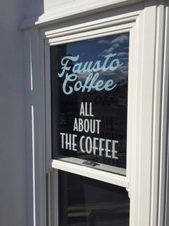 coffee shop window vinyl