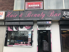 hair and beauty signage