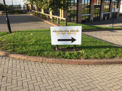 freestanding directional sign board
