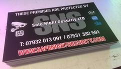 security site signage