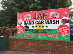 freestanding car wash signs