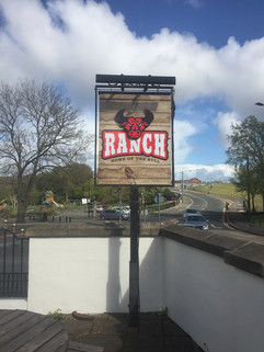 free standing pub signs with illuminated strip light