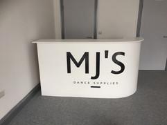 reception desk signage