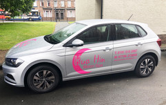 massage and physiotherapy vehicle graphics