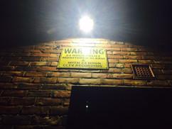 warning CCTV signage