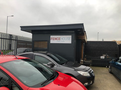 pre fabricated units and shipping container signage