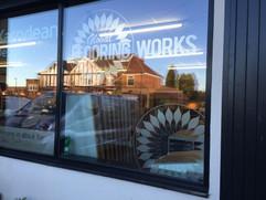 flooring works window display
