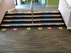 stair tread and floor graphics