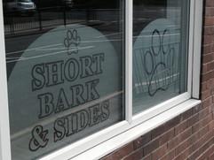 dog groomers window graphics