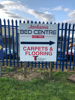 cost feeective sign board and fence posts