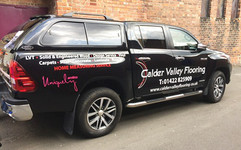 flooring company van graphics