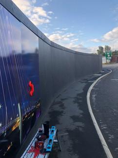 hording board, panel installation team