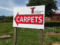 telfer carpet signage