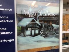 Christmas window scene
