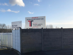 cricket club free standing sign boards