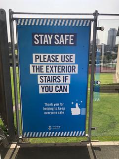 stay safe signage