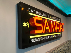 led sign tray with raised lettering 3d.j
