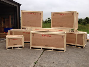 crates for a full conole recording sytem for a company in london