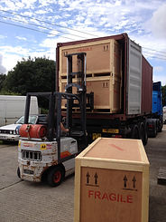 packed crates finished and about to be shipped